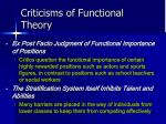 criticisms of functional theory