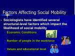 factors affecting social mobility