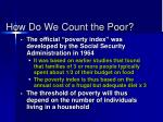 how do we count the poor