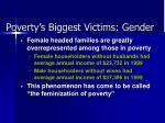 poverty s biggest victims gender