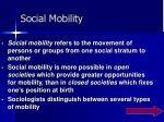 social mobility