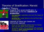 theories of stratification marxist conflict theory
