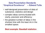 data presentation standards graphical excellence edward tufte