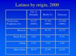 latinos by origin 2000