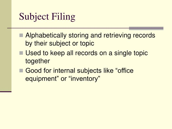 Subject filing2