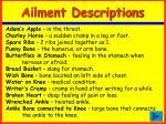ailment descriptions