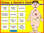 choose a doctor s card