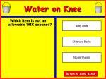water on knee