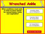 wrenched ankle