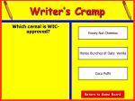writer s cramp