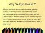 why a joyful noise