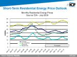 short term residential energy price outlook
