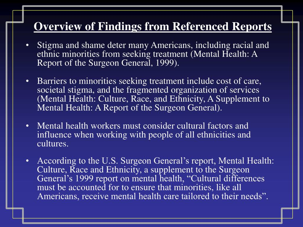 Overview of Findings from Referenced Reports