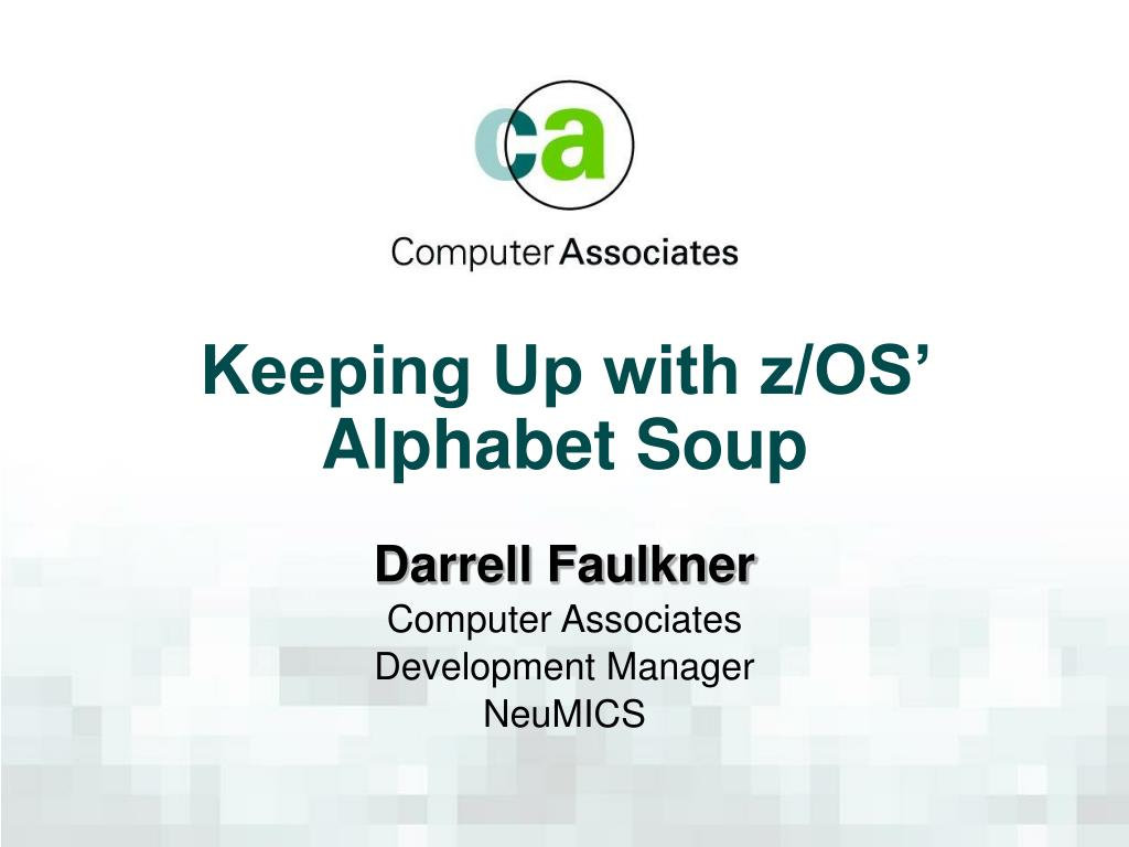 keeping up with z os alphabet soup l.