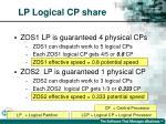 lp logical cp share