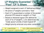 lp weights guarantee pool cp share