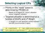 selecting logical cps