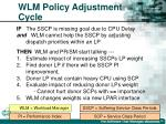 wlm policy adjustment cycle