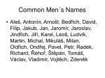 common men s names