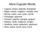 more cognate words