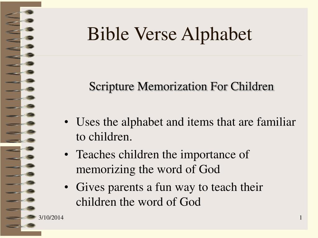 bible verse alphabet l.