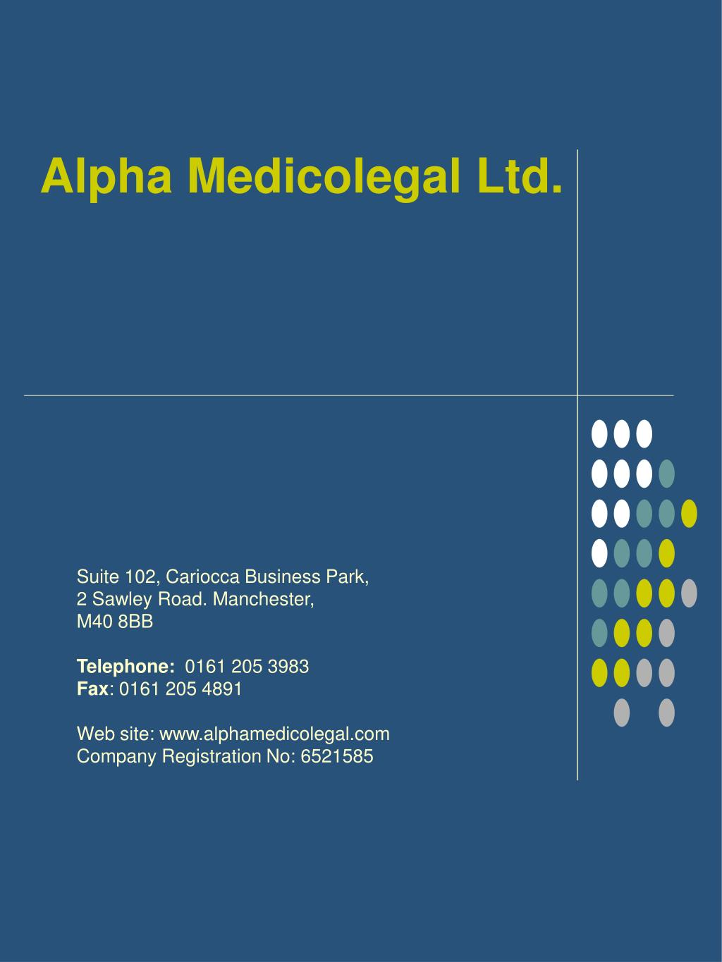 alpha medicolegal ltd l.
