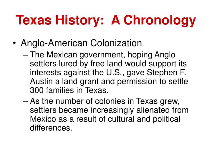 Texas history a chronology3