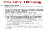 texas history a chronology7