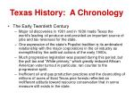 texas history a chronology8