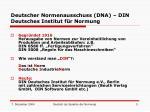 deutscher normenausschuss dna din deutsches institut f r normung