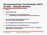 normenausschuss terminologie nat im din aktuelle struktur
