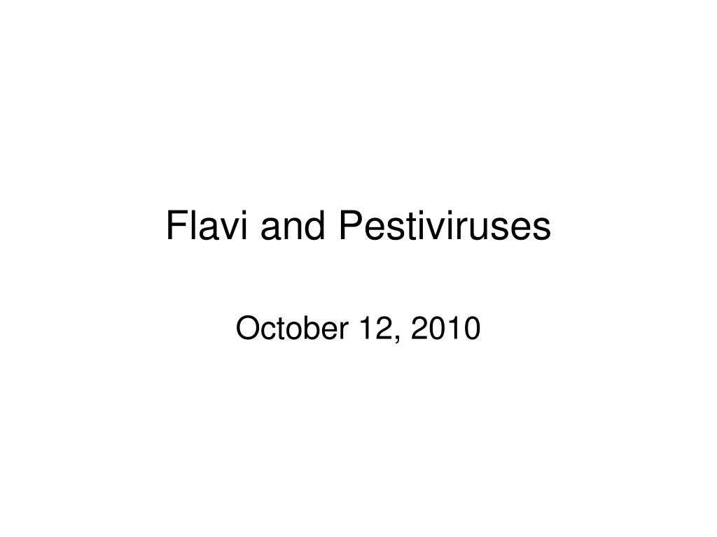 flavi and pestiviruses l.