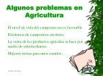 algunos problemas en agricultura