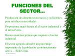 funciones del sector