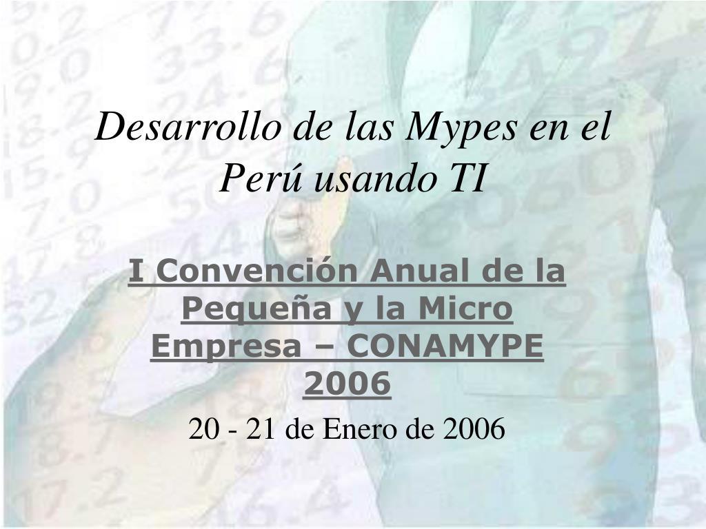 desarrollo de las mypes en el per usando ti l.