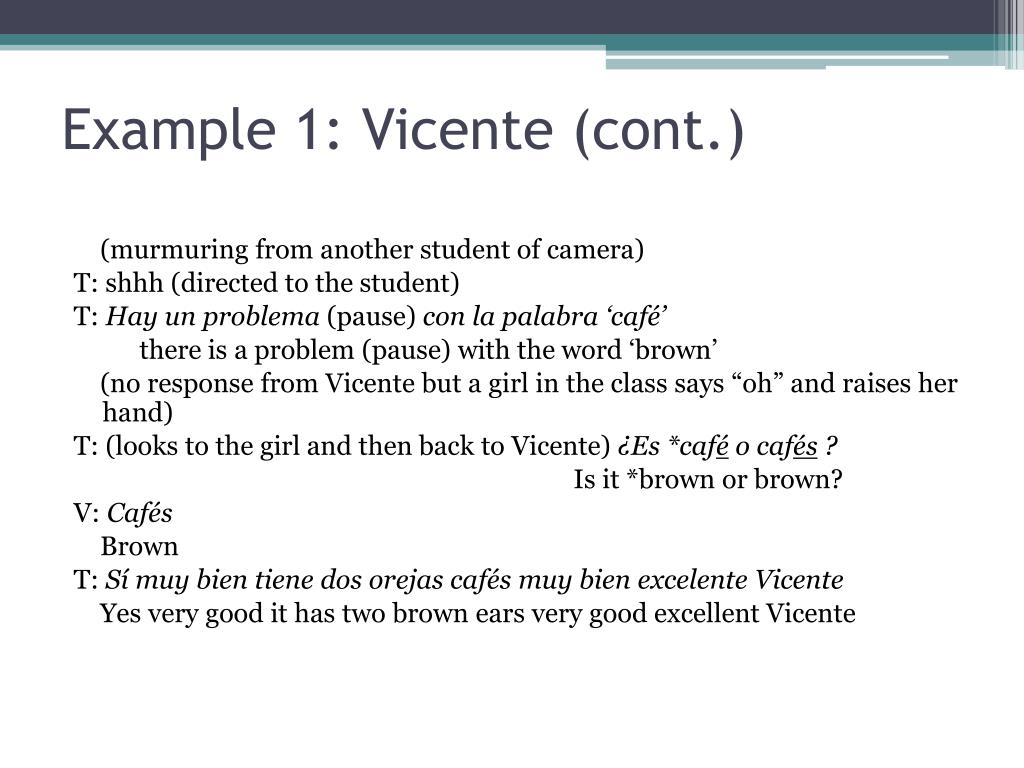 Example 1: Vicente (cont.)