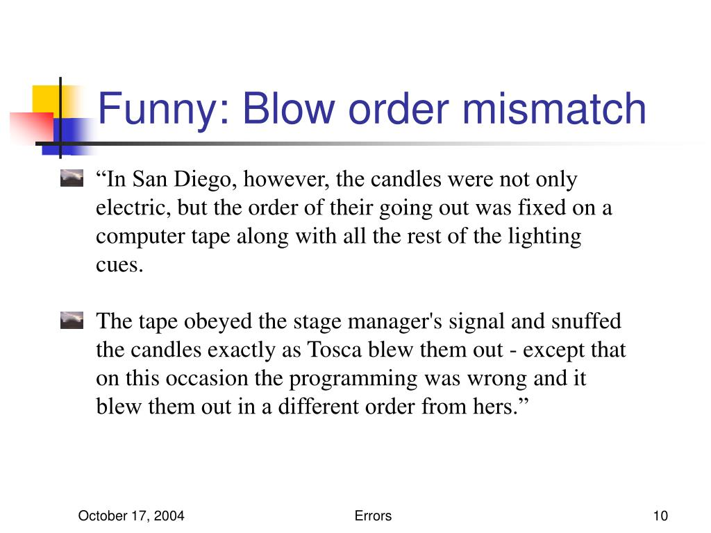 Funny: Blow order mismatch