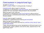 consciousness in computational logic