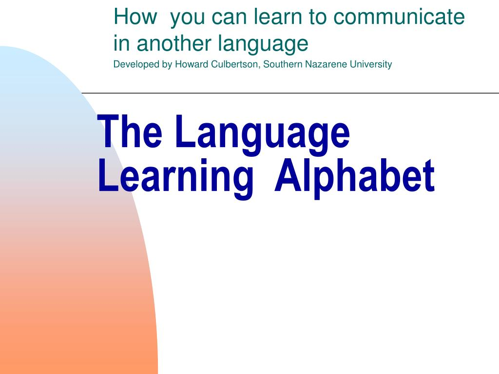 the language learning alphabet l.