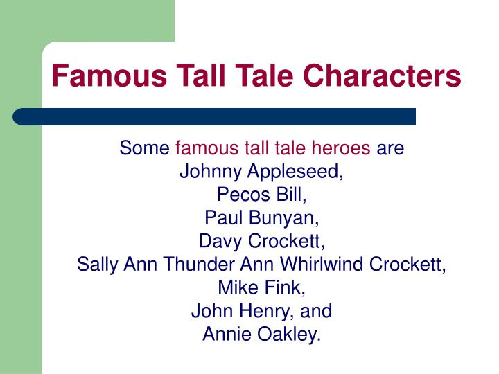 Famous Tall Tale Characters