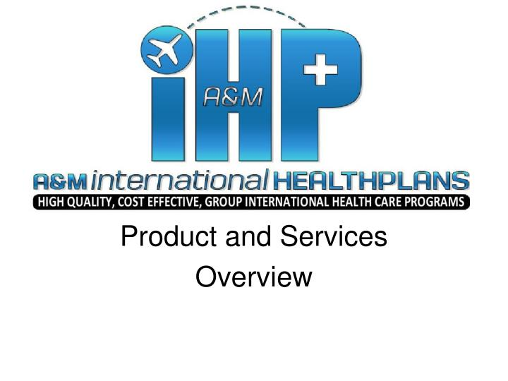 product and services overview n.