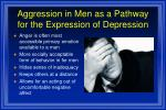 aggression in men as a pathway for the expression of depression