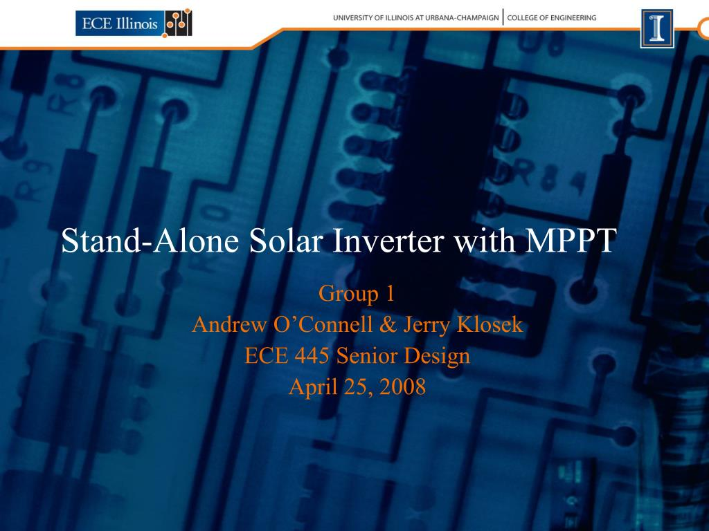 stand alone solar inverter with mppt l.