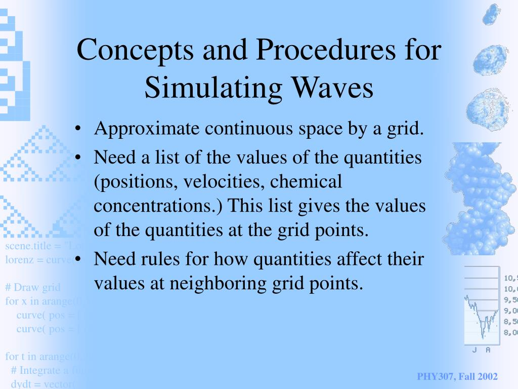 Concepts and Procedures for Simulating Waves