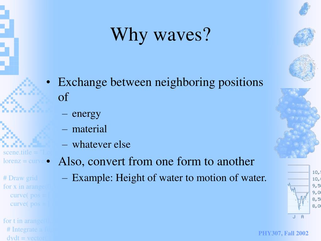 Why waves?