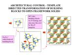 architectural control template directed transformation of building blocks to open framework solids
