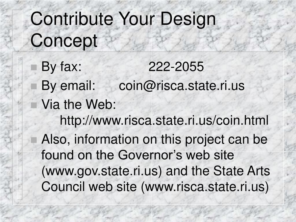 Contribute Your Design Concept
