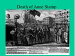 death of anne stamp