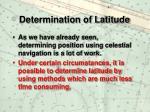 determination of latitude