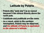 latitude by polaris